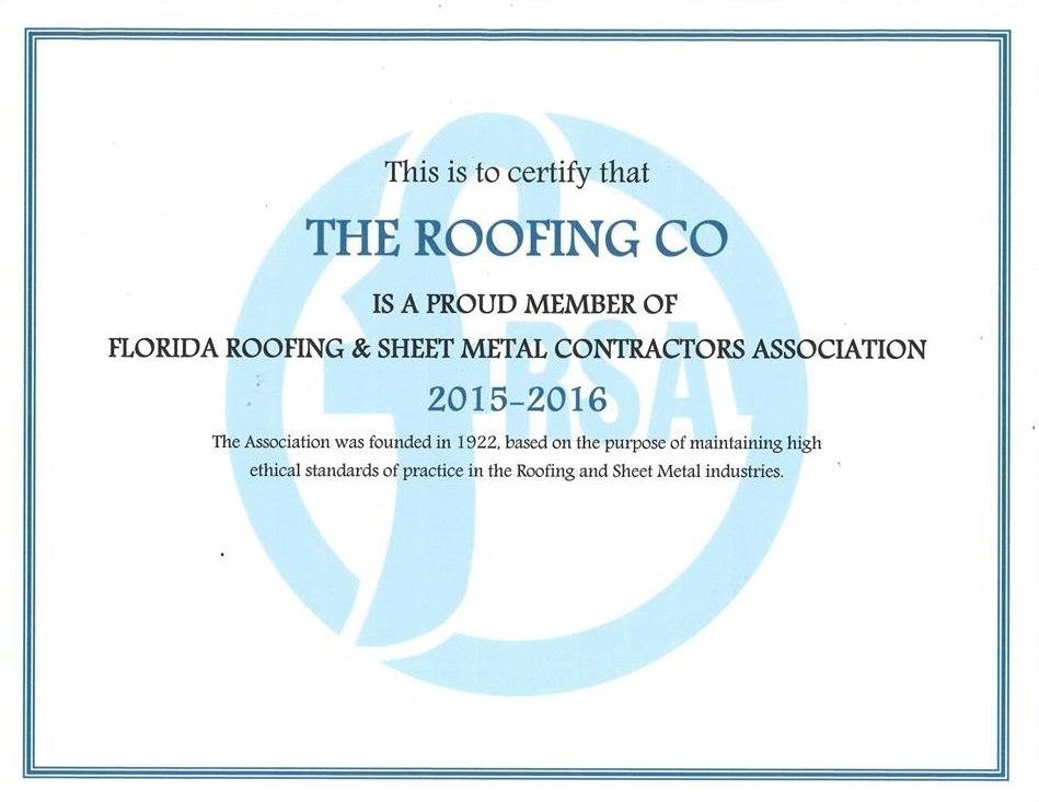 the roofing company award