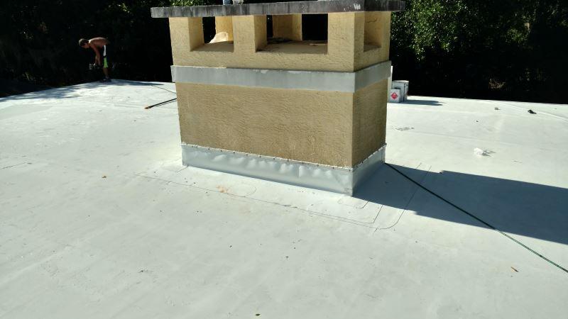 flat roof chimney