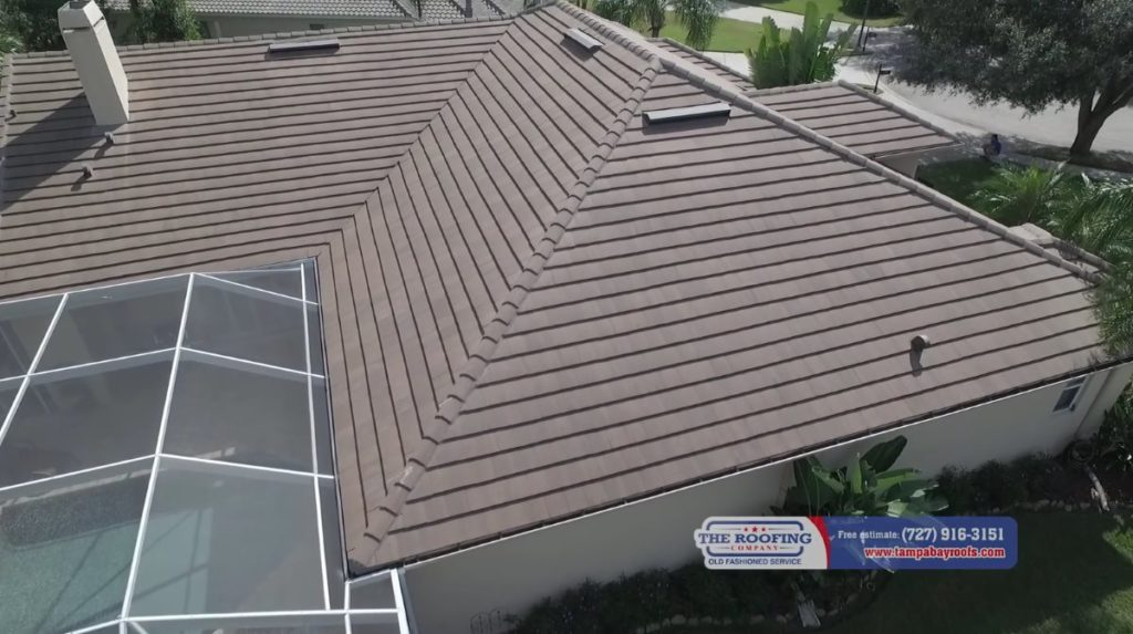 Eagle tile roof in Oldsmar FL 34677
