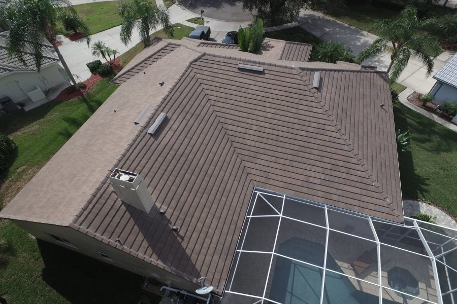 oldsmar tile roof drone view