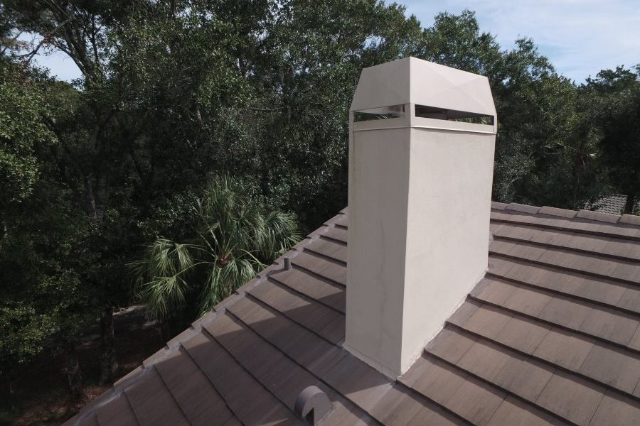 oldsmar tile roof chimney