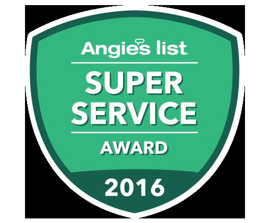 angieslist super service award 2016