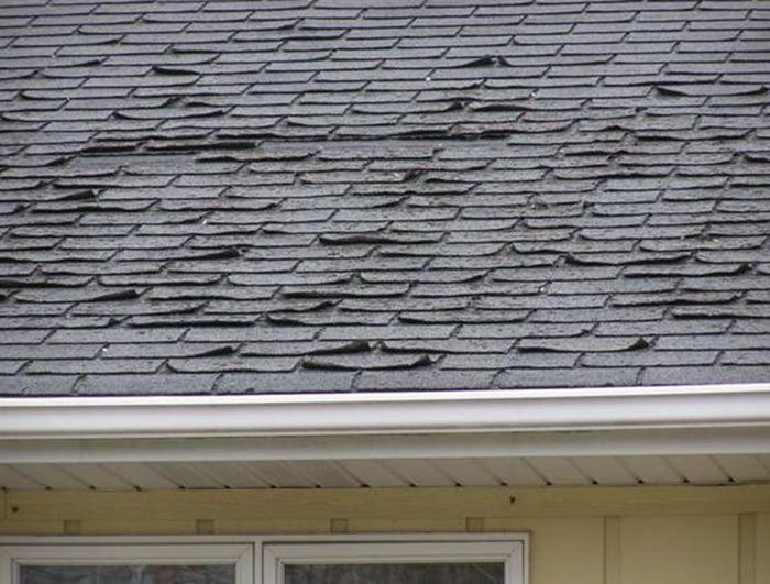 lifted shingles