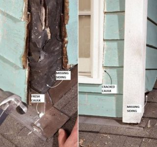 damaged caulking
