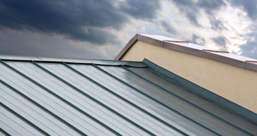 metal roof in storm