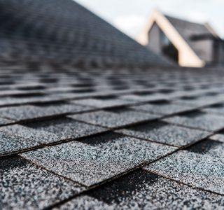 shingle roof close up