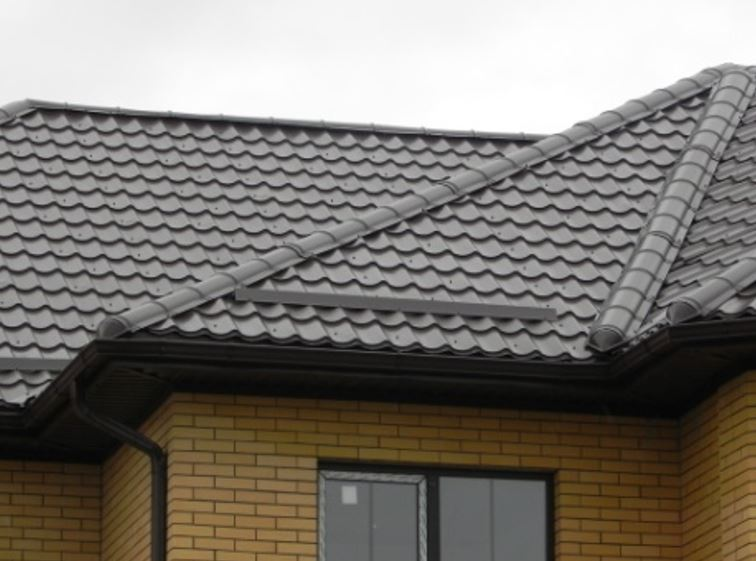 black tile roof