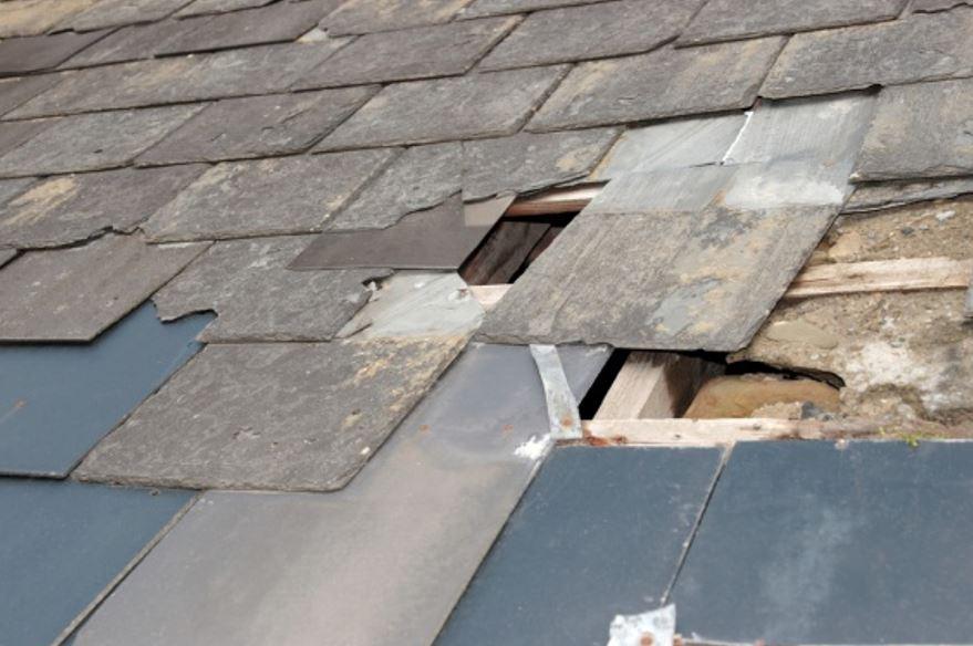 damaged st pete florida roof
