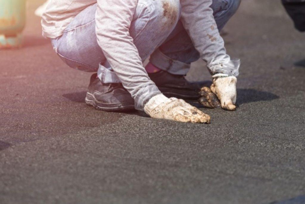 fixing a flat roof